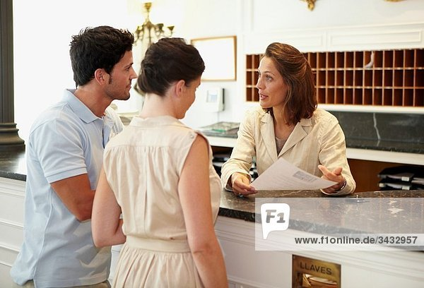 Check-in  reception at hotel and spa. Lierganes hotel and spa  Cantabria  Spain