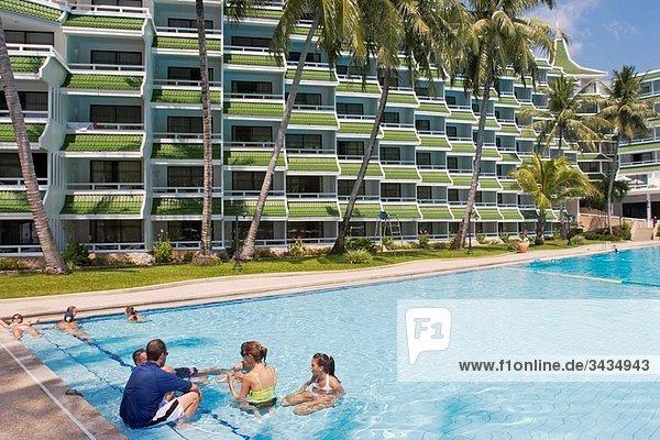 Le Meridien Phuket Beach Resort pool and main building Phuket  Thailand