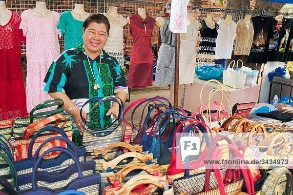 Souvenir seller in Ayutthaya  Thailand