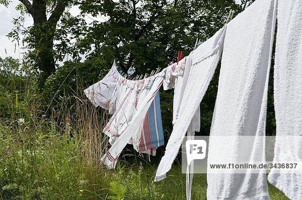 trocknen Wind Wäsche