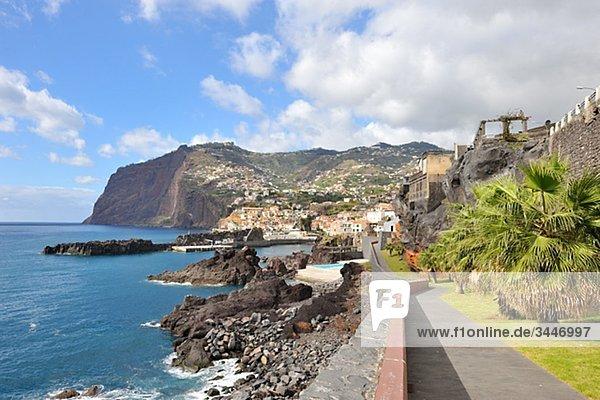 Madeira  Ansicht der Küste