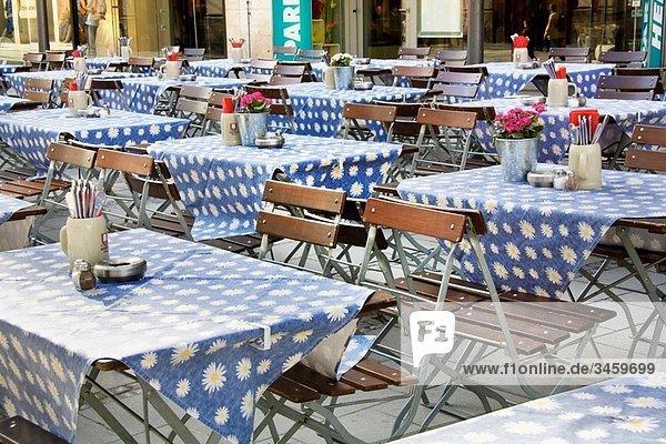 Typical restaurant  Munich  Bavaria  Germany