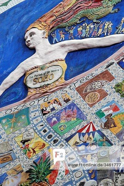 Mural in Broadwick Street  Soho  London