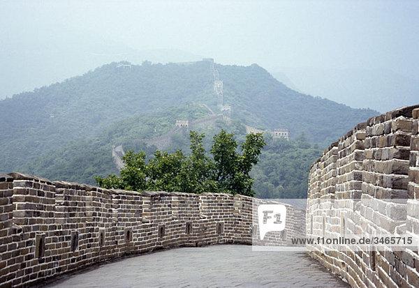 Chinesische Mauer  in der Nähe von Peking  China