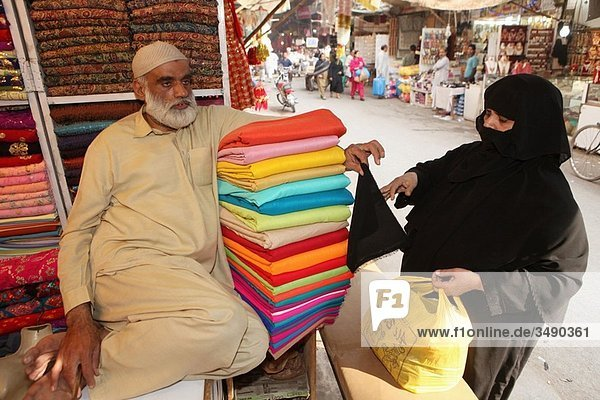 Clothes market in Lahore