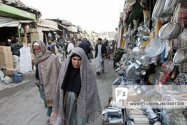 marketplace in Kabul  Afghanistan