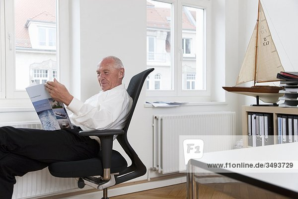 Geschäftsmann-Lesebroschüre Geschäftsmann-Lesebroschüre