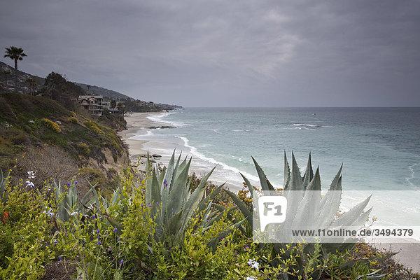 Küste in Kalifornien  USA  Erhöhte Ansicht
