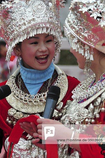 Asien  China  Guizhou-Provinz  Guyang Bereich  Gulong Dorf  Lusheng Festival  Miao Minderheit