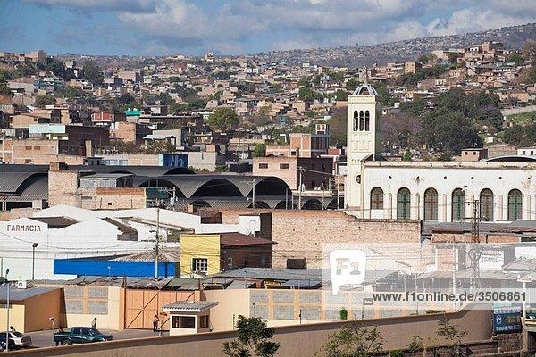 View of city from Museo Historico de la Republica former Presidential Palace  Tegucigalpa  Honduras
