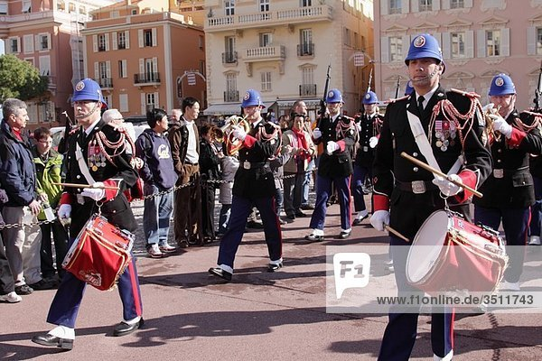 Changing of the guard in front of the Grimaldi palace in Monaco  France  Monaco