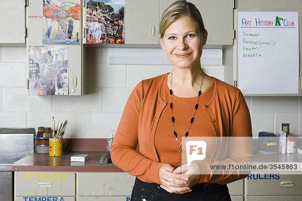 Arts and crafts teacher  portrait