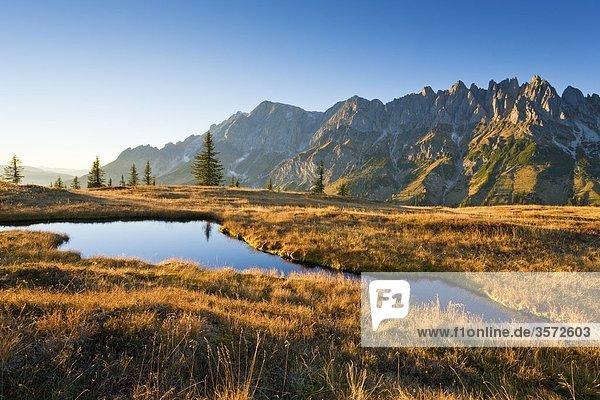 Hochkönig in den Berchtesgadener Alpen am Abend  Deutschland