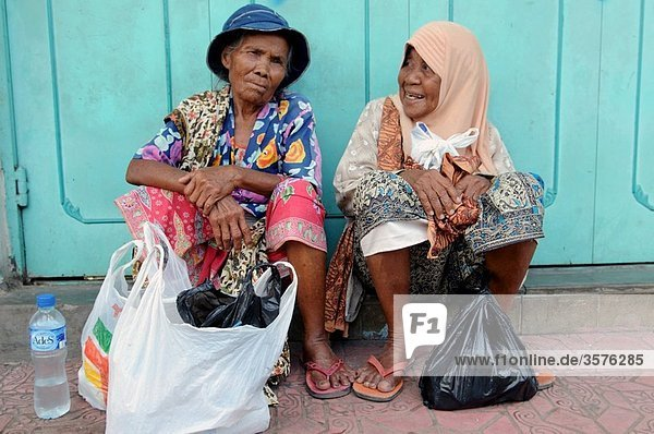 elderly women in cirebon  java  indonesia