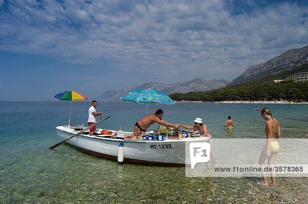 Local People Selling Snacks  Brela  Makarska Coast  Croatia
