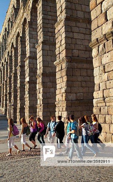 Roman Aqueduct  Segovia  Castilla and Leon