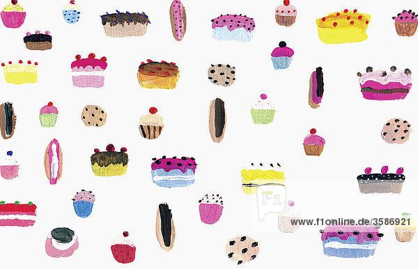 Verschiedene Kuchen und Törtchen Verschiedene Kuchen und Törtchen