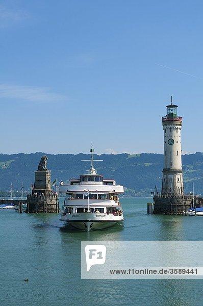Hafeneinfahrt  Bodensee  Lindau  Bayern  Deutschland  Europa Hafeneinfahrt, Bodensee, Lindau, Bayern, Deutschland, Europa