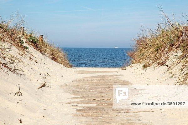 Strand von Ahlbeck  Usedom  Deutschland