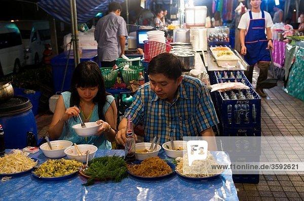 A night street food market  Bangkok  Thailand