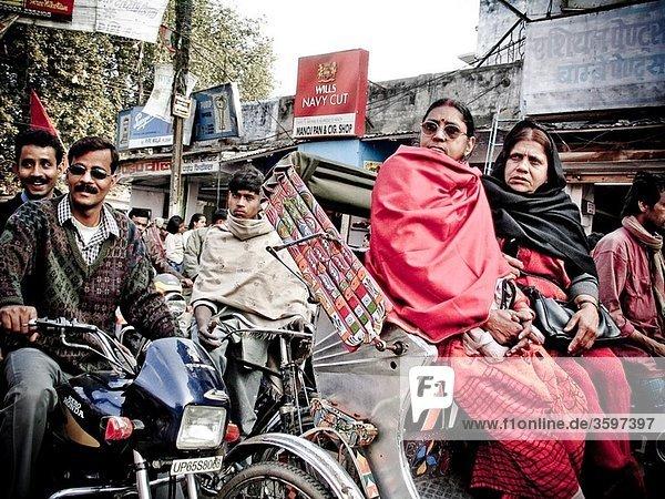 Rickshaw in Varanasi Uttar Pradesh India