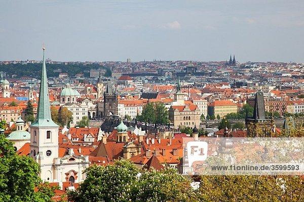 View from the grounds of Prague Castle Pražský hrad Czech Republic