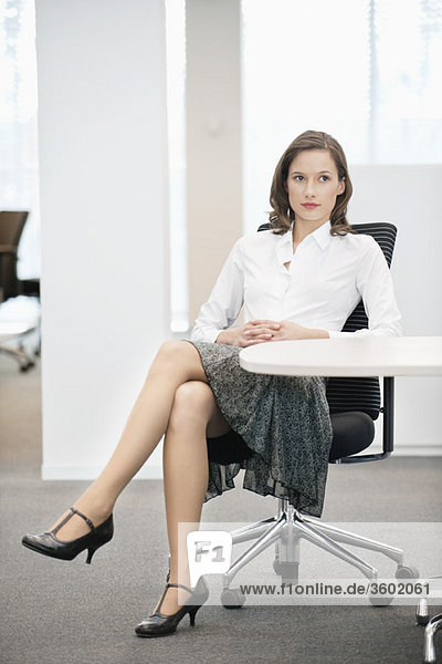 Businesswoman sitting in an office