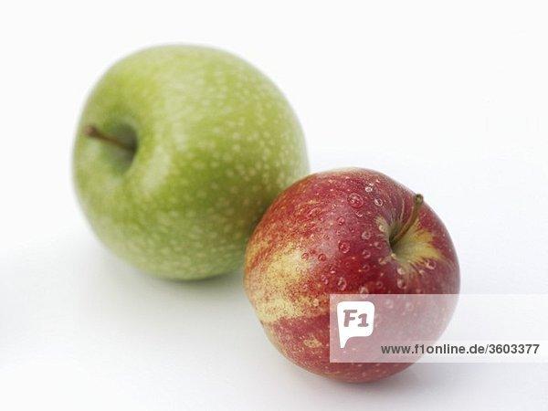 Granny Smith und Gala-Apfel