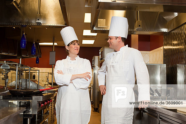Köche in der Großküche  Portrait