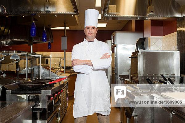 Küchenchef in der Großküche  Portrait