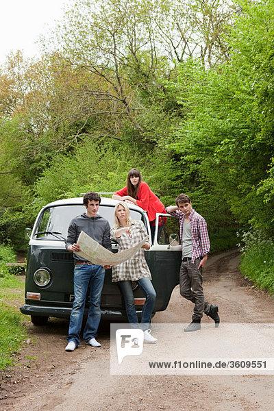 Kleintransporter Freundschaft Landkarte Karte camping Lieferwagen