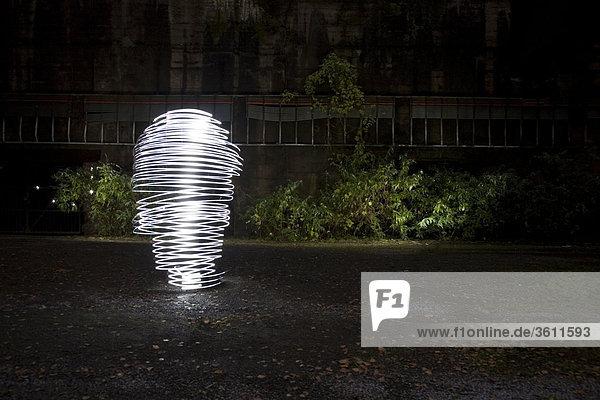 Beleuchtete Spirale  Oberhauasen  Nordrhein-Westfalen  Deutschland  Europa