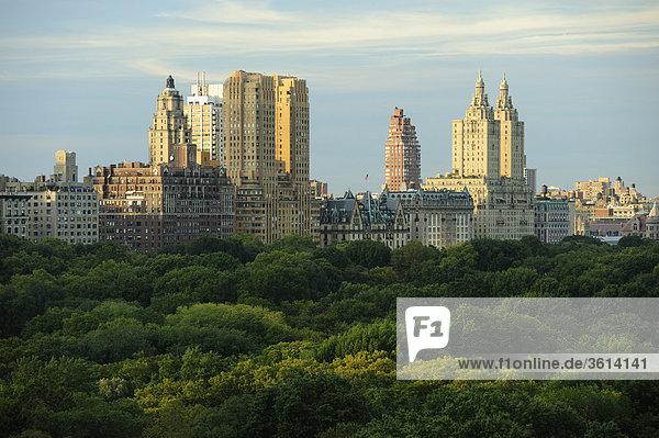 Blick von The Ritz-Carlton Central Park Hotel  Central Park  Midtown  New York  New York  USA