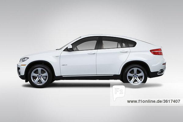 Profil Profile fahren weiß BMW X6 Seitenansicht