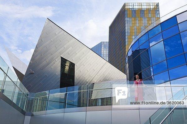 Moderne Hochhäuser  The Strip  Las Vegas  Nevada  USA