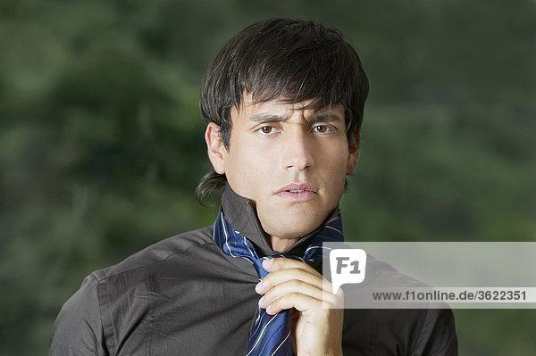 Portrait of a businessman wearing a tie