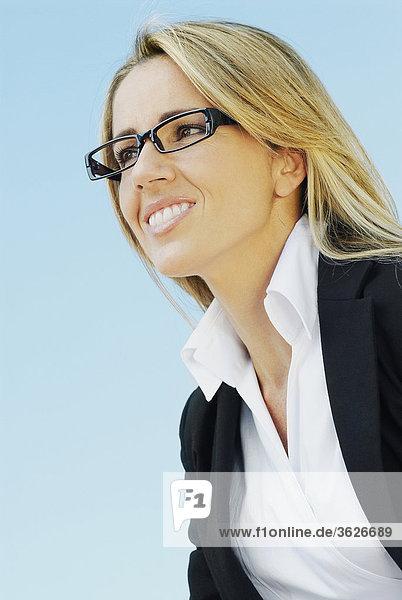 Nahaufnahme lächelnd geschäftsfrau
