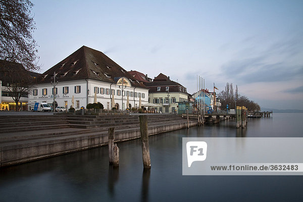 Die Greth an der Schiffsanlegestelle in Überlingen am Bodensee  Bodenseekreis  Baden-Württemberg  Deutschland  Europa