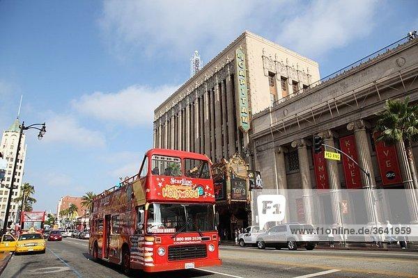 Tourist Bus  Hollywood  California  USA