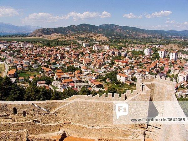 europe  macedonia  lake ohrid  ohrid  car samoil castle