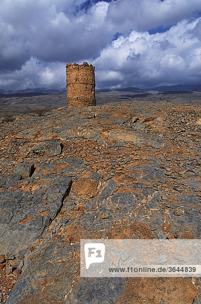 Wachturm bei Al Hamra  Oman  Naher Osten