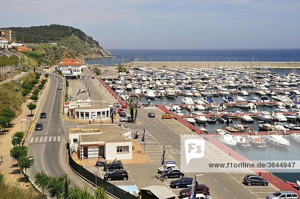 Yachthafen von PalamÛs  Costa Brava  Spanien  Iberische Halbinsel  Europa