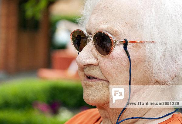 Porträt einer 97-jährigen Seniorin
