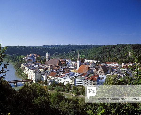 Wasserburg am Inn  Chiemgau  Oberbayern  Bayern  Deutschland  Europa