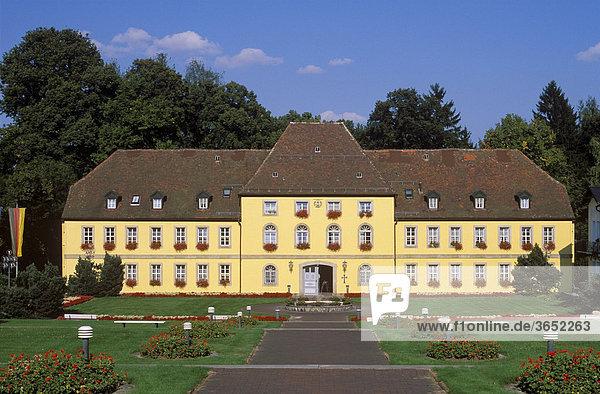 Schloss in Bad Alexandersbad,  Fichtelgebirge,  Oberfranken,  Franken,  Bayern,  Deutschland,  Europa