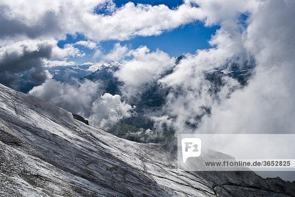 Wetterstimmung auf dem Brienzer Rothorn  Berner Oberland  Schweiz  Europa