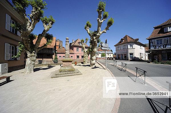 An der Sauer in der Woerther Altstadt  Woerth  Elsass  Frankreich  Europa