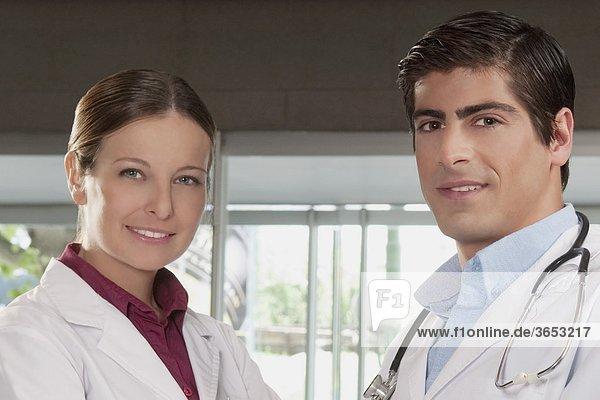 Portrait of two doctors