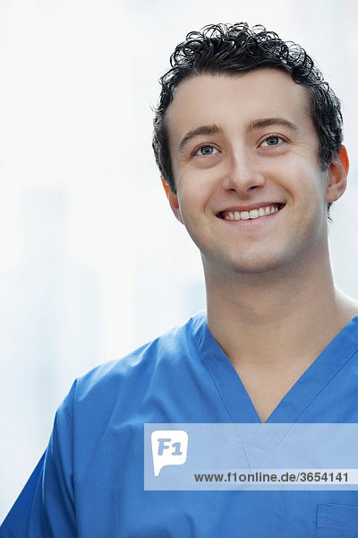 Close-up of a doctor smiling
