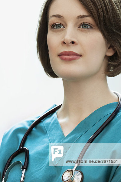 Close-up of a female doctor